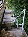 Steps to mystery balcony, A14 bridge - geograph.org.uk - 1401840.jpg