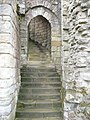 Steps to the upper levels of Warkworth Castle - geograph.org.uk - 1321492.jpg