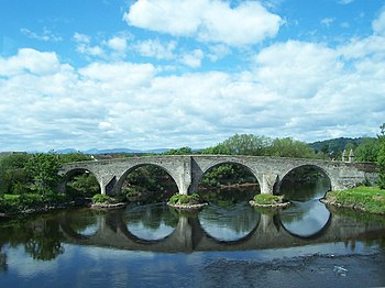 Stirling Bridge, der Ort der Schlacht