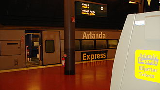 Arlanda North Station - Arlanda Express X3 train at the station