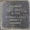 Stolperstein Bamberger Str 22 (Wilmd) Hugo Gimpel.jpg