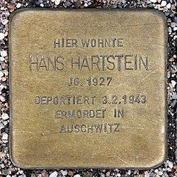Photo of Hans Hartstein brass plaque
