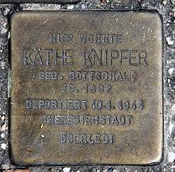 Photo of Käthe Knipfer brass plaque