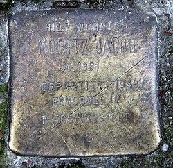 Photo of Moritz Jacob brass plaque