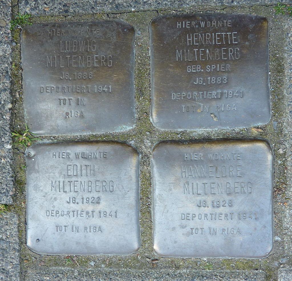 Stolperstein Familie Miltenberg, Münster.JPG