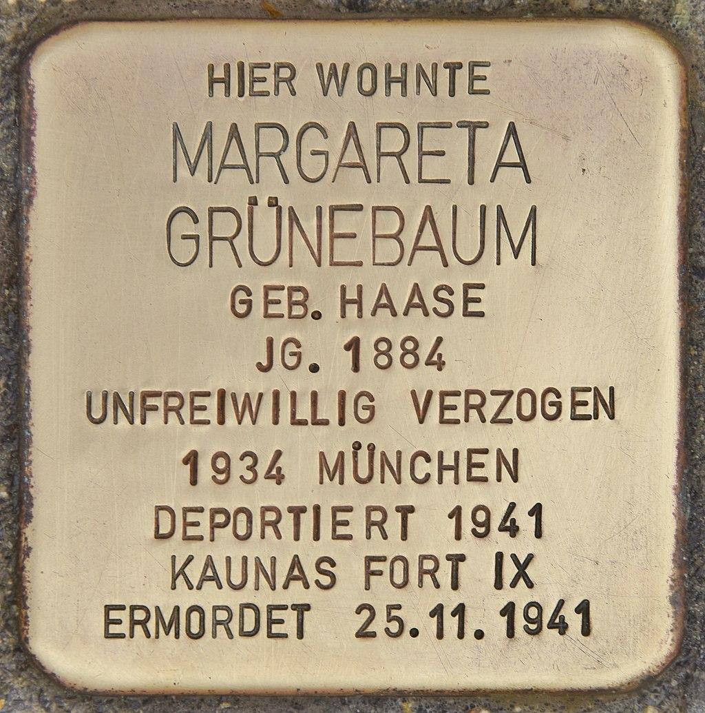 Stolperstein für Margareta Grünebaum (Passau).jpg