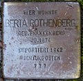 Stolpersteine Höxter, Berta Rothenberg (Corveyer Allee 2).jpg