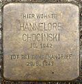 Stumbling block for Hannelore Chocinski (Alexianerstraße 3)