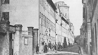 Borchs Kollegium - Students in front of Vurchs Kollegium, 1862