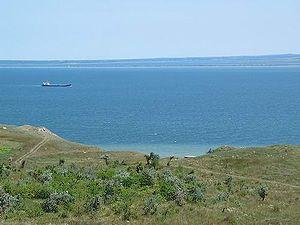 Kerch Strait - Kerch Strait. View from the Crimean coast
