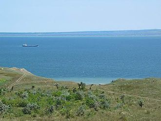 Kerch Strait - Kerch Strait. View from the Crimean coast