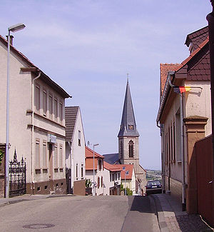 Wattenheim - The Catholic Church in the background