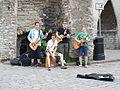 Street musicians near Viru gates.JPG