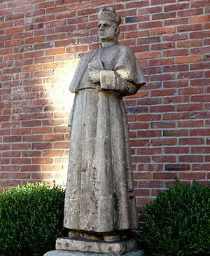 Joseph Strub - A statue of Fr. Strub outside the Old Main administration building at Duquesne University.