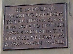 Joseph Sturge memorial - plaque inscription