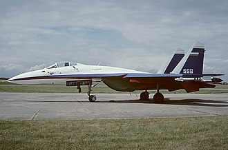 Gromov Flight Research Institute - Modified Sukhoi Su-27P aeroplane (1995)