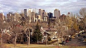 Sunalta, Calgary - Sunalta with downtown Calgary in background