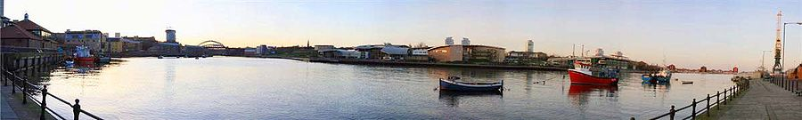 Sunderland riverside at sunset