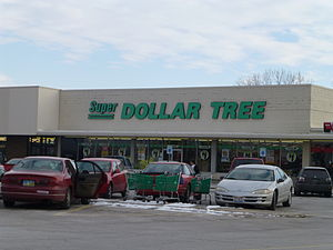Dollar Tree - This Dollar Tree store in Northwood, Ohio, is the only store that continues to use the defunct Super Dollar Tree banner.