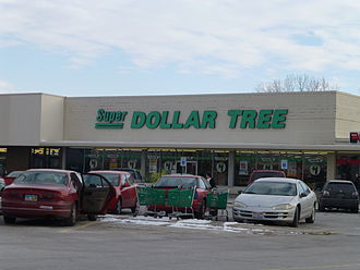 Dollar Tree - This Dollar Tree store in Northwood, Ohio, is one of the few stores that continues to use the defunct Super Dollar Tree banner.