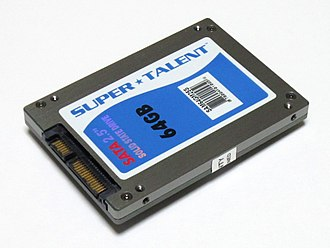 "Solid-state drive - A Super Talent Technology 2.5"" Serial ATA solid-state drive"
