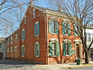 Lititz Moravian Historic District - Image: Sutter House Lititz PA