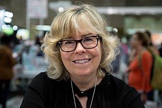 Suzanne Aubry - The novelist Suzanne Aubry at the Salon du livre de Montréal (2017)