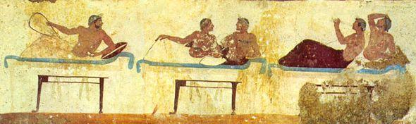 Le nebbie del tempo i greci e il simposio - Giochi di baci sul letto ...
