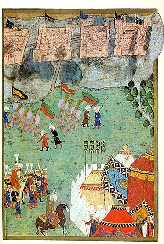 Flags of the Ottoman Empire - Image: Szigetvár before the siege