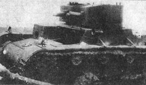 T-26 - The prototype of the TMM-1 light infantry tank during tests in early 1932