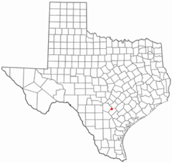 Location of La Vernia, Texas
