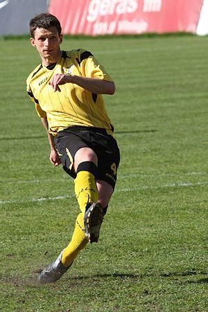 Tadas Kijanskas - Kijanskas playing for FK Vėtra in 2009