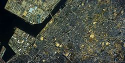 Takaishi city center area Aerial photograph.1985.jpg