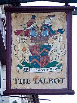 Talbot pub sign - geograph.org.uk - 1225528
