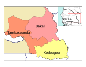Tambacounda Region - Image: Tambacounda departments big print