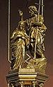 Taufbecken Jesus und Tühfer in Holz vergoldet Pfarrkirche St. Ulrich in Gröden.jpg