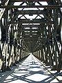 Tczew, silniční most, pohled osou mostu.JPG