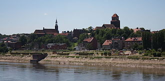 Pomeranian Voivodeship - Tczew, the largest city in the ethnocultural region of Kociewie