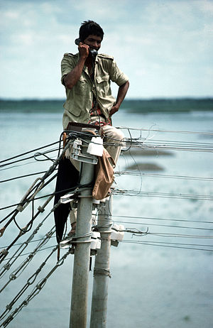 Lineman's handset - Checking lines in Bangladesh