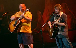 Jack Black and Kyle Gass of Tenacious D perfor...