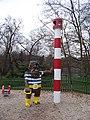 Teplice, U Zámecké zahrady, maják na dětském hřišti.jpg
