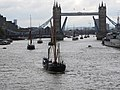 Thames barge parade - through Tower Bridge into the Pool 6678.JPG