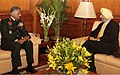 The Ambassador of India to Turkey, Shri R.S. Jassal called on the Chief of Army Staff, General V.K. Singh, in New Delhi on February 17 2011.jpg