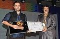 The Chief Guest, Actor Shri Nandamuri Balkrishna presenting the Golden Peacock award to Gurvinder Singh's Punjabi film 'Anhey Ghorhey Da Daan'.jpg
