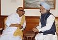 The Chief Minister of Tamil Nadu, Shri M. Karunanidhi, called on the Prime Minister, Dr.Manmohan Singh, in New Delhi on May 28, 2007.jpg