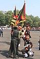 The Chief of Army Staff, General Bipin Rawat presenting the president's colour, at Belgaum, Karnataka on November 03, 2017.jpg