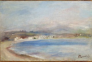 The Coast at Cagnes, Sea, Mountains