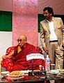 The Dalai Lama and Haji Anayat Ali in Islamia School Kargil on the 14th of september 2010.jpg