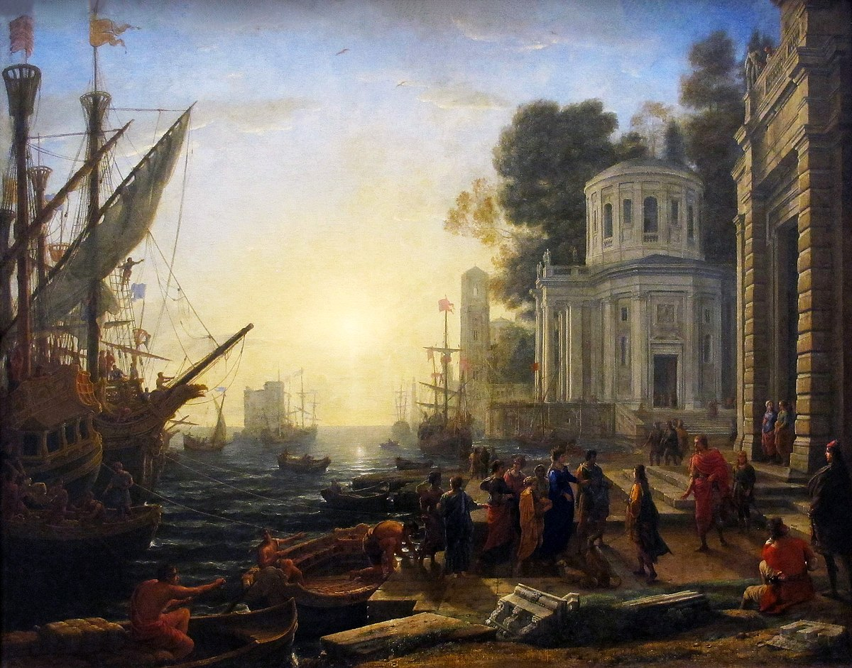 The Disembarkation of Cleopatra at Tarsus 1642 Claude Lorrain.jpg