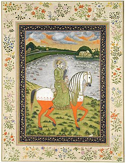 The Emperor Ahmad Shah, equestrian, in the hunting field 1750 San Diego Museum of Art.jpg